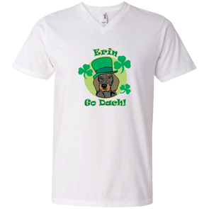 Erin Go Dach (WH) Men's V-Neck T-Shirt