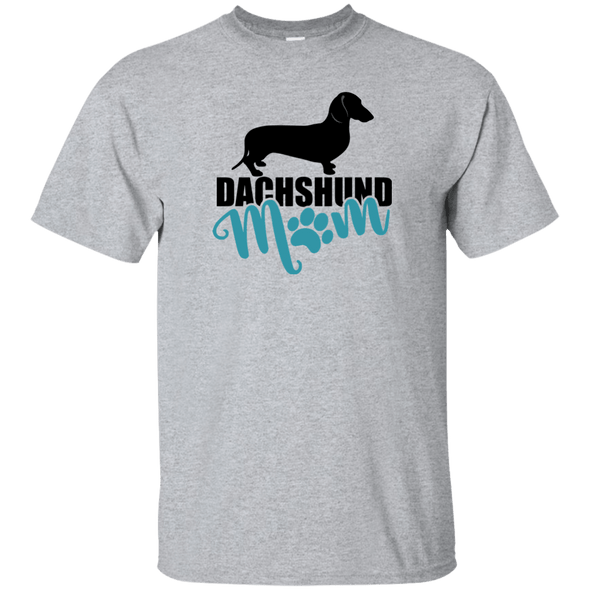Dachshund Mom Shorthair (Teal) Unisex Ultra Cotton T-Shirt