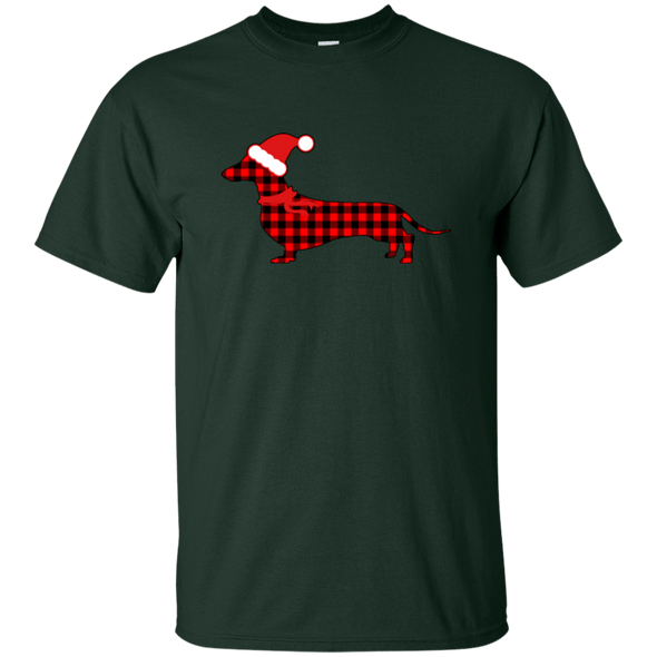 Buffalo Red Plaid Santa Doxie Unisex Ultra Cotton T-Shirt