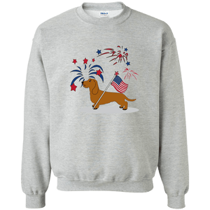 Patriotic Wirehair Red Crewneck Pullover 50/50 Sweatshirt