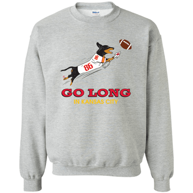 Go Long in Kansas City Crewneck Pullover Sweatshirt