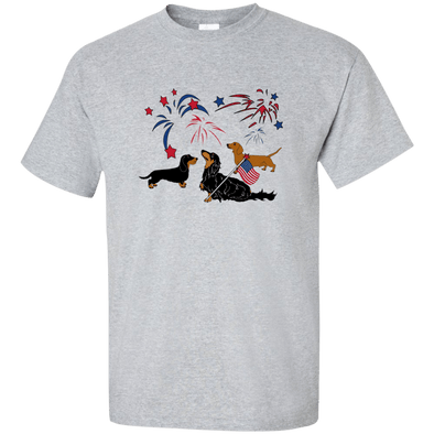 Patriotic Dachshunds Ultra Cotton Unisex T-Shirt