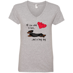 All You Need Is Love LH (B&T) Ladies' V-Neck T-Shirt