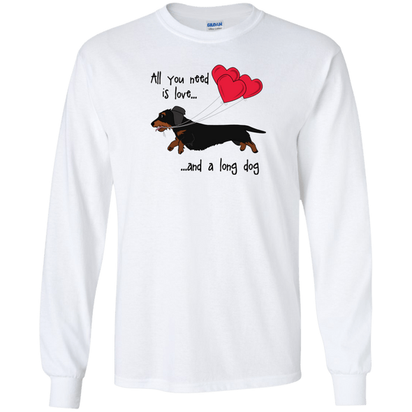 All You Need Is Love WH (B&T) LS Ultra Cotton T-Shirt