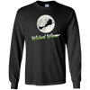 Flying Wicked Wiener (Lime lettering) Unisex LS Ultra Cotton T-Shirt