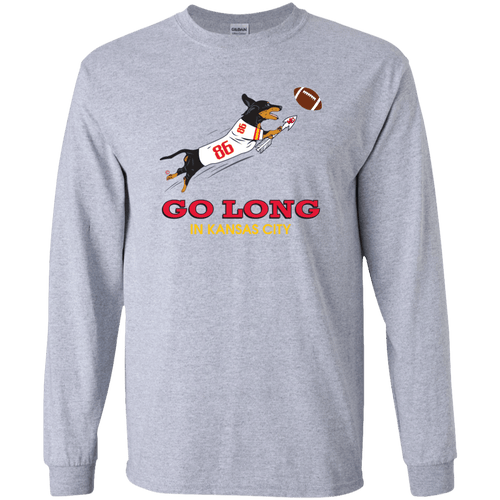 Go Long in Kansas City LS Ultra Cotton T-Shirt