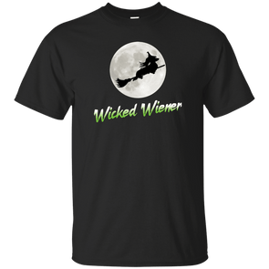 Flying Wicked Wiener (Lime lettering) Unisex Ultra Cotton T-Shirt