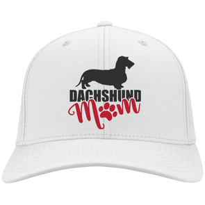 Dachshund Mom Wirehair (Pink) Embroidered Flex Fit Twill Baseball Cap
