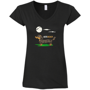 Werewiener Ladies' Fitted Softstyle V-Neck T-Shirt