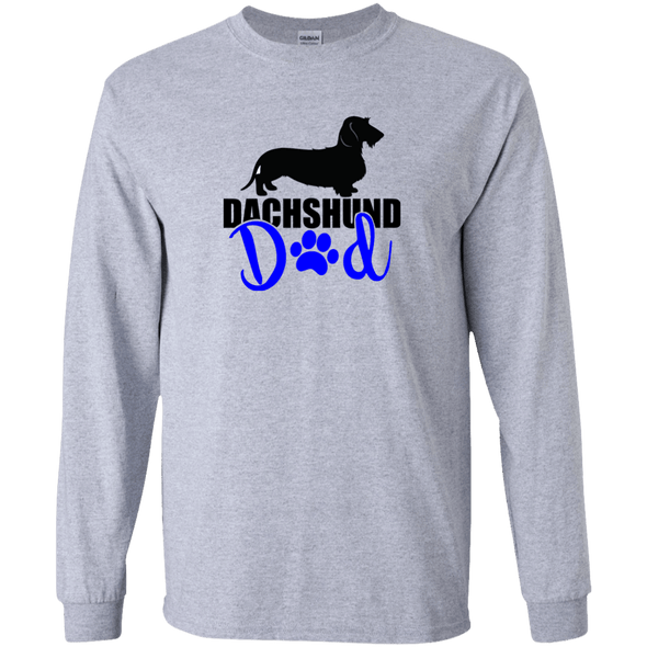 Dachshund Dad Wirehair (Blue) LS Ultra Cotton T-Shirt