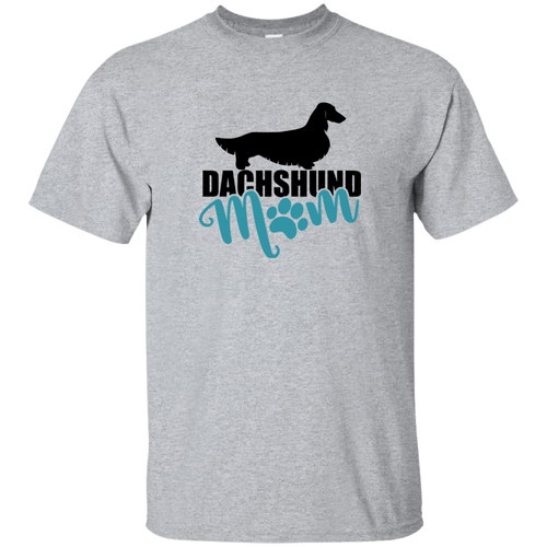 Dachshund Mom Longhair (Teal) Unisex Ultra Cotton T-Shirt
