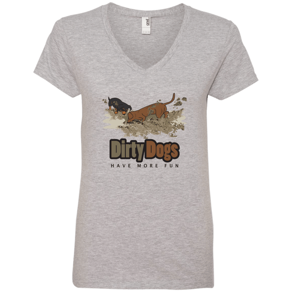 Dirty Dogs Ladies' V-Neck T-Shirt