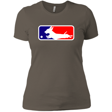 Baseball Dachshund Next Level Ladies' Boyfriend Tee