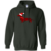 Buffalo Red Plaid Santa Doxie Pullover Hoody
