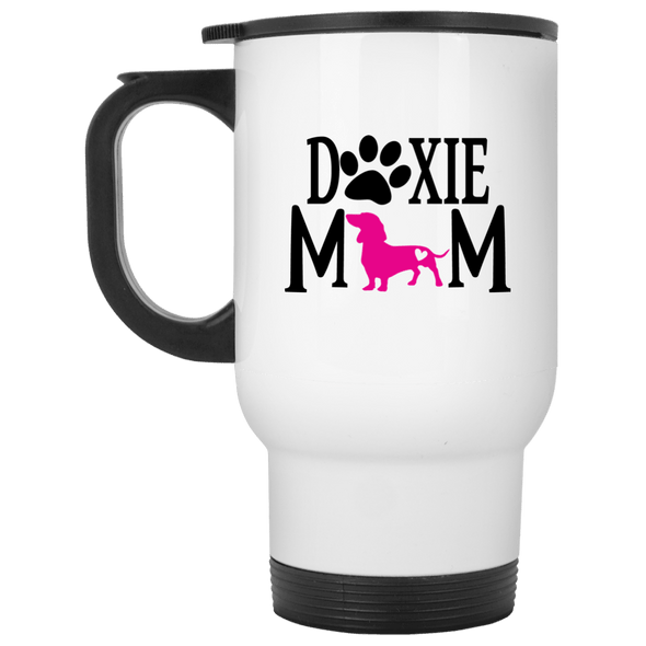 Doxie Mom (Pink) 14 oz. Stainless Steel Travel Mug