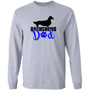 Dachshund Dad Longhair (Blue) LS Ultra Cotton T-Shirt