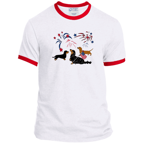 Patriotic Dachshunds Ringer Tee