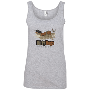 Dirty Dogs (2) Ladies' 100% Ringspun Cotton Tank Top