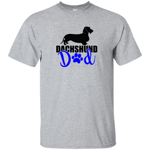 Dachshund Dad Wirehair (Blue) Unisex Ultra Cotton T-Shirt