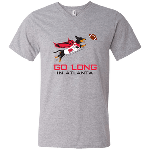 Go Long in Atlanta Men's V-Neck T-Shirt