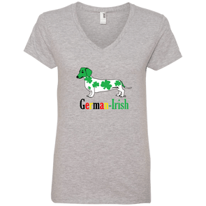 German-Irish Ladies' V-Neck T-Shirt