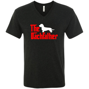 The Dachfather (WH) Men's Next Level Triblend V-Neck T-Shirt