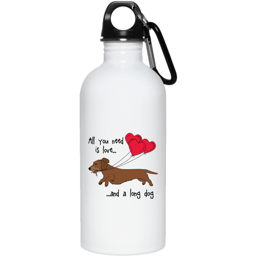All You Need Is Love WH (Red) 20 oz. Stainless Steel Water Bottle