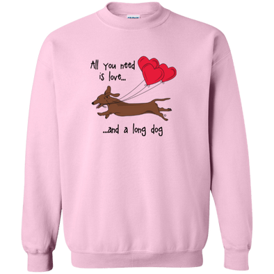 All You Need Is Love SH (Red) Crewneck Pullover Sweatshirt