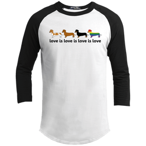 Love Is Love 100% Cotton Baseball Jersey