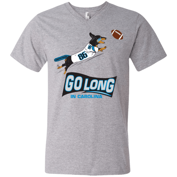 Go Long Carolina Preshrunk 100% Cotton Men's V-Neck T-Shirt