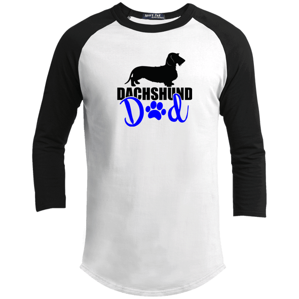 Dachshund Dad Wirehair (Blue) 100% Cotton Baseball Jersey
