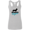 Dachshund Mom Shorthair (Teal) Ladies' Softstyle Racerback Tank