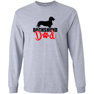 Dachshund Dad Wirehair (Red) Unisex LS Ultra Cotton T-Shirt