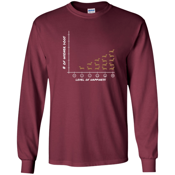 Wiener Happiness (red) LS Ultra Cotton Tshirt
