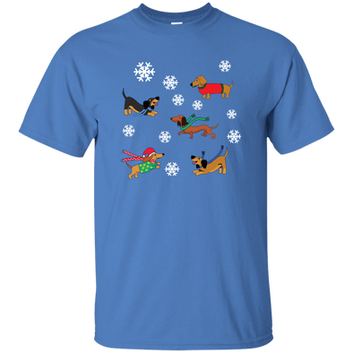 Dachshunds in Snowflakes Unisex Ultra Cotton T-Shirt