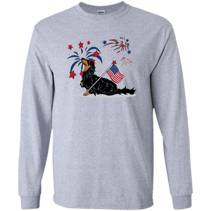 Patriotic Longhair B&T LS Ultra Cotton T-Shirt