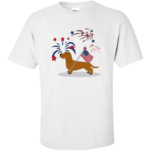 Patriotic Wirehair Red Ultra Cotton Unisex T-Shirt