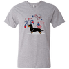 Patriotic Wirehair B&T Men's V-Neck T-Shirt