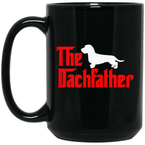 The Dachfather (WH) Black 15 oz. Mug