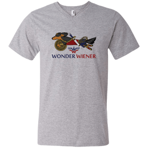 Wonder Wiener Men's V-Neck T-Shirt