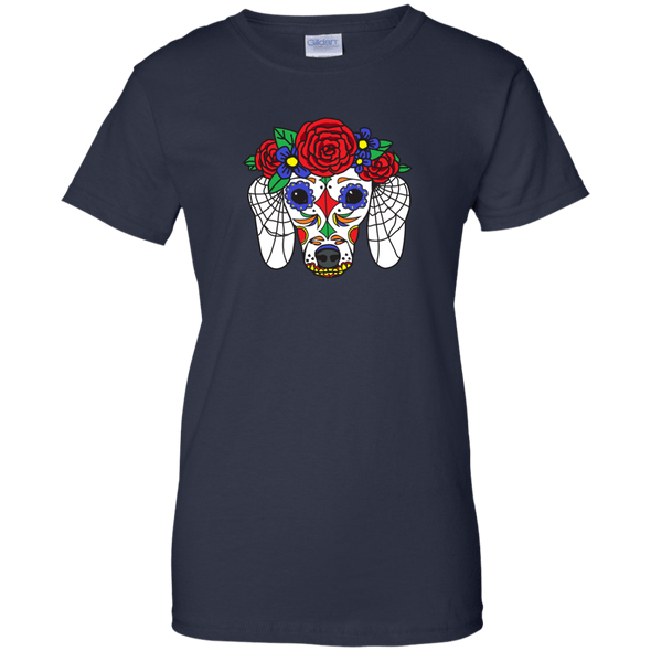 Sugar Skull Doxie Ladies' 100% Cotton T-Shirt