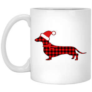 Buffalo Red Plaid Santa Doxie 11 oz. Ceramic Mug
