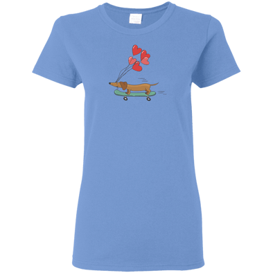 Skateboarding Doxies Ladies' T-Shirt