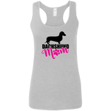 Dachshund Mom Shorthair (Pink) Ladies' Softstyle Racerback Tank