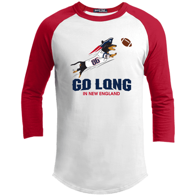 Go Long in New England 100% Cotton Baseball Jersey