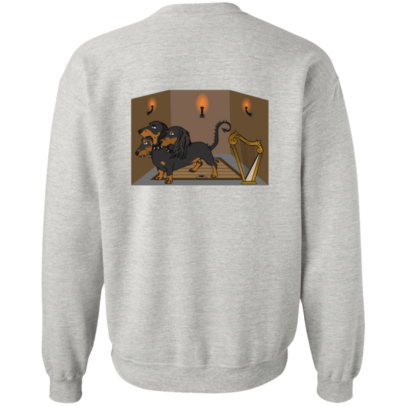 3-Headed Dog (Front/Back) Crewneck Pullover Sweatshirt