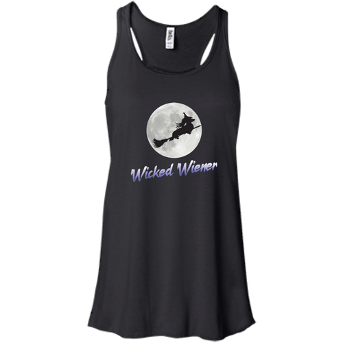 Flying Wicked Wiener (Purple lettering) Bella + Canvas Flowy Racerback Tank