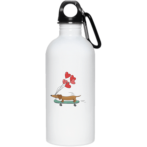 Skateboarding Doxie Stainless Steel Water Bottle