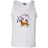 Patriotic Wirehair Red 100% Cotton Tank Top