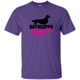 Dachshund Mom Longhair (Pink) Unisex Ultra Cotton T-Shirt
